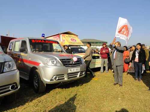 Launching of Ambulances phase 1 and 2, Meghalaya